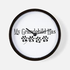 My Grandchild Has Paws Wall Clock