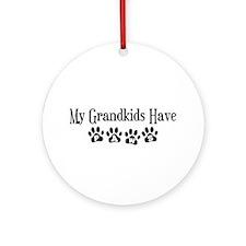 My Grandkids Have Paws Ornament (Round)
