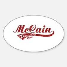 McCain President Sport Logo Oval Decal