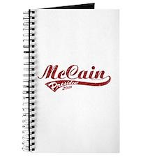 McCain President Sport Logo Journal