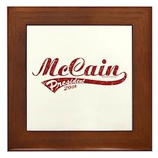 McCain President Sport Logo Framed Tile