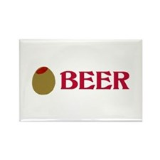 Olive (Love) Beer Rectangle Magnet
