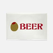 Olive (Love) Beer Rectangle Magnet