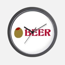 Olive (Love) Beer Wall Clock