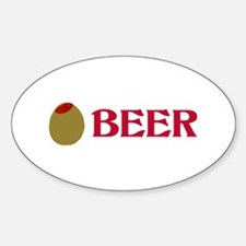 Olive (Love) Beer Oval Decal