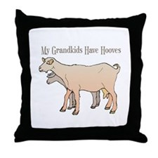 My Grandkids Have Hooves Throw Pillow