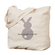 mean people wear fur Tote Bag
