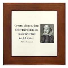 Shakespeare 18 Framed Tile