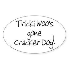 Tricki Woo Oval Decal