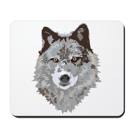 Wolf Head Mousepad