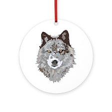 Wolf Head Ornament (Round)