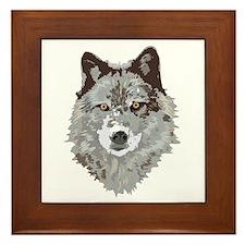 Wolf Head Framed Tile