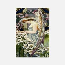 Angels and Lillies Rectangle Magnet