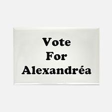 Vote For Alexandrea Rectangle Magnet
