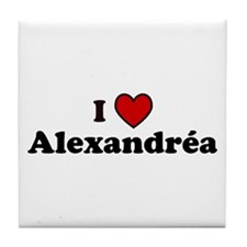 I Heart Alexandrea Tile Coaster