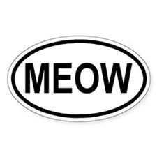 MEOW Kitty Kat Euro Oval Decal