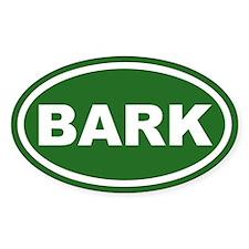 BARK Green Euro Oval Decal