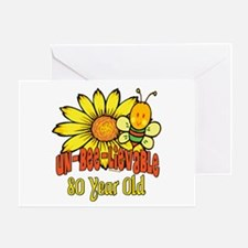Un-Bee-Lievable 80th Greeting Card