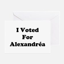 I Voted For Alexandria Greeting Card