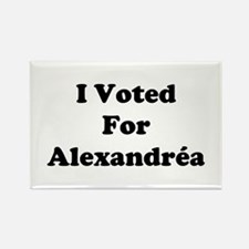 I Voted For Alexandria Rectangle Magnet