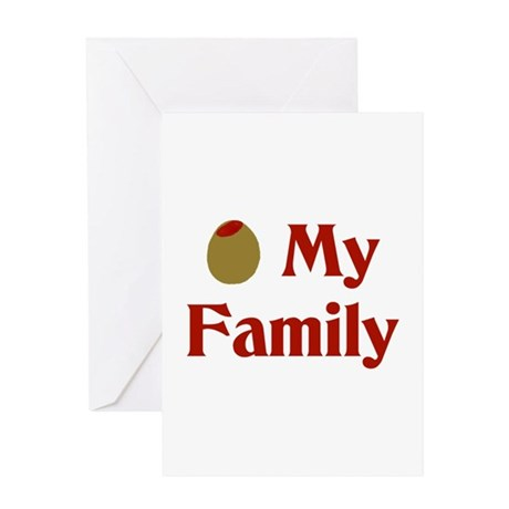 Olive (I Love) My Family Greeting Card