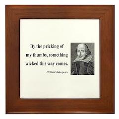 Shakespeare 19 Framed Tile