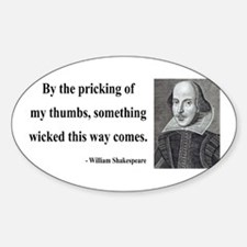Shakespeare 19 Oval Decal