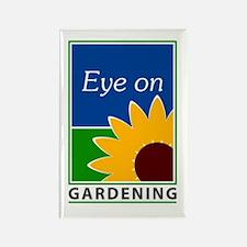 Eye on Gardening TV Rectangle Magnet