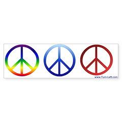 Bumper Sticker -- 3 Peace Signs