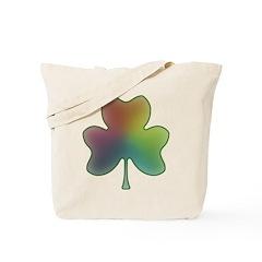 Rainbow in a Shamrock Tote Bag