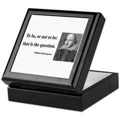 Shakespeare 20 Keepsake Box