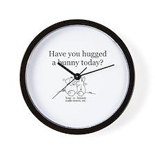 Hug-a-Bunny Wall Clock