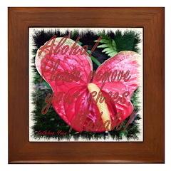 Hawaiian Heart Framed Tile