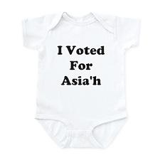 I Voted For Asia'h Infant Bodysuit