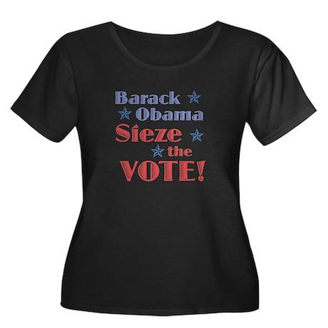 Obama Sieze the Vote Women's Plus Size Scoop Neck