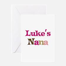 Luke's Nana Greeting Card