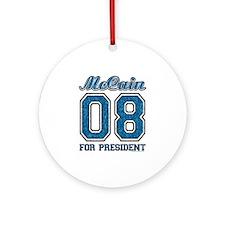 McCain 08 for President Ornament (Round)