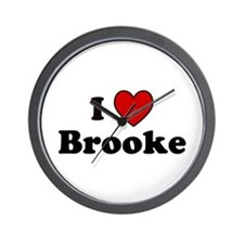 I Heart Brooke Wall Clock