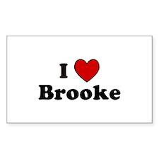 I Heart Brooke Rectangle Decal