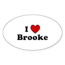 I Heart Brooke Oval Decal
