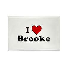 I Heart Brooke Rectangle Magnet