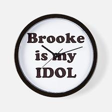 Brooke is my IDOL Wall Clock