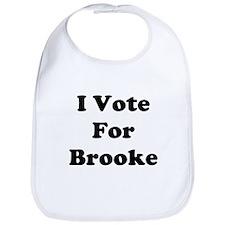 I Vote For Brooke Bib