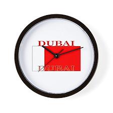Dubai Flag Wall Clock