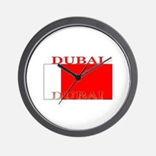 Dubai Flag Wall Clock
