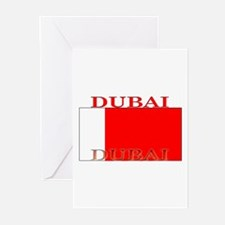Dubai Flag Greeting Cards (Pk of 10)