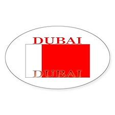 Dubai Flag Oval Decal