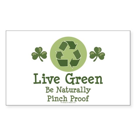 St Patricks Day Environmental Sticker (Rectangular
