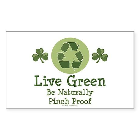 St Patricks Day Environmental Sticker (Rectangular