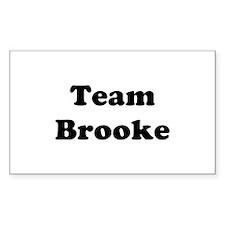 Team Brooke Rectangle Decal